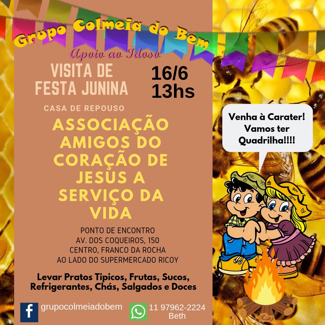 Visita de Festa Junina 2019 Colmeia do Bem